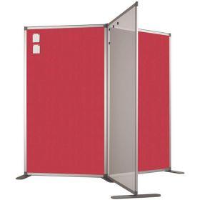 Panneau de séparation double face - Tableau d'affichage - 110x100 cm
