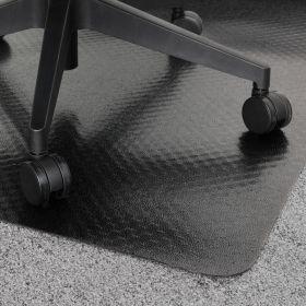 zwarte bureaustoelmat tapijt 90x120 cm