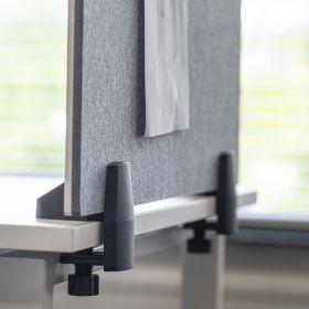 Écran de séparation combiné tableau blanc / tableau d'affichage - Inclus pinces pour bureau individuel - 58 x 120 cm
