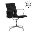 Chaise de réunion Murcia 100% cuir - Noir